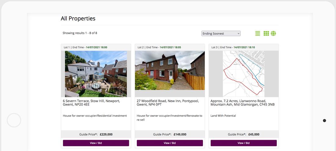 Sage & Co Online Auctions Platform